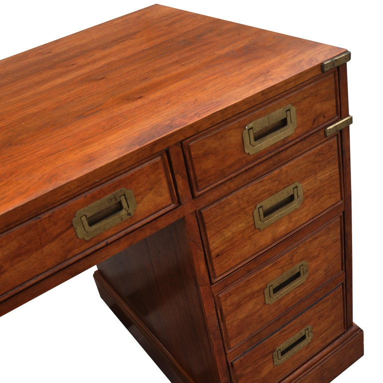 Campaign Style Desk by National Mt. Airy For Sale 3