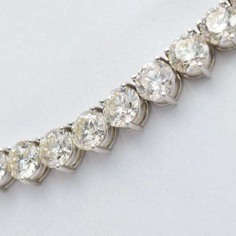 52 Carat Diamond Riviera Necklace in 18k White Gold I-J VS In New Condition For Sale In Carmel, IN