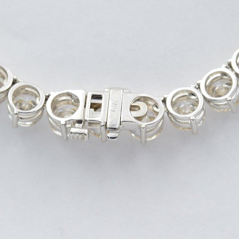 52 Carat Diamond Riviera Necklace in 18k White Gold I-J VS For Sale 1