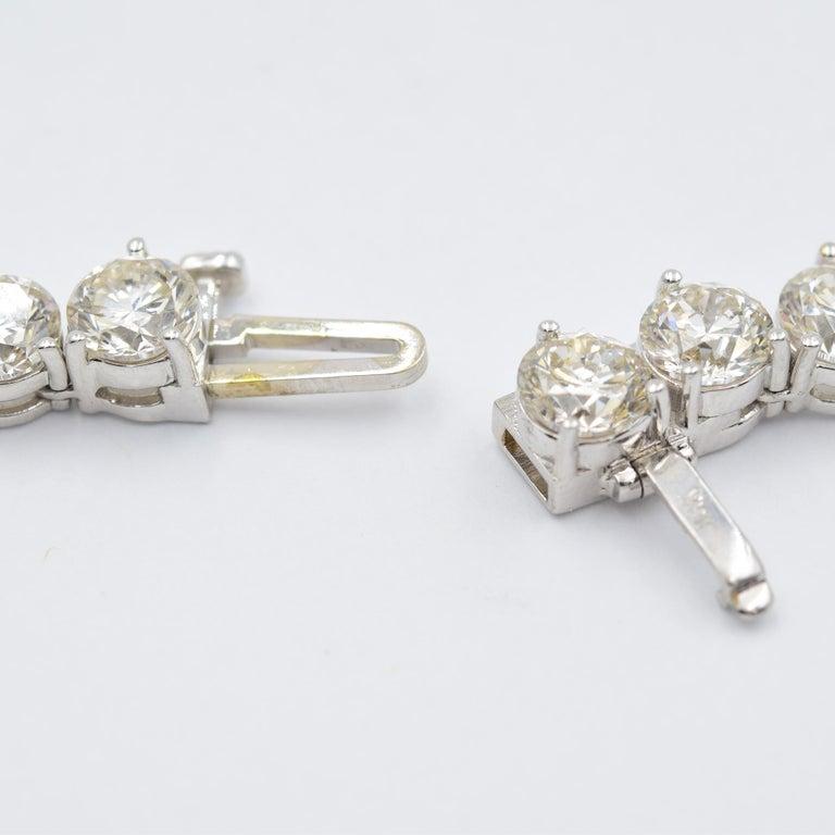 52 Carat Diamond Riviera Necklace in 18k White Gold I-J VS For Sale 2