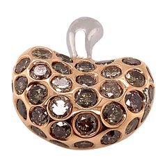 5.20 Carat Natural Brown Diamond Apple Pendant