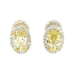 5.22 Carat Canary Diamond Earrings