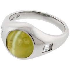 5.22 Carat Cat's-Eye Chrysoberyl Ring