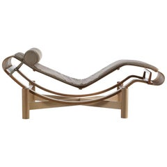 522 Tokyo Chaise Longue in Teak by Charlotte Perriand for Cassina