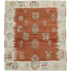 Turkish Kilim Rug with Tribal Style