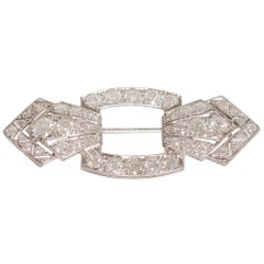 5.25 Carat Diamond Platinum Brooch