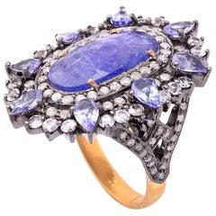 5.25 Carat Tanzanite Sapphire Cocktail Ring