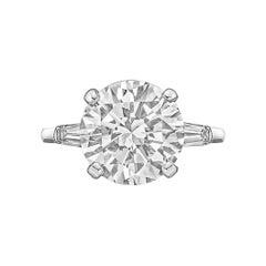 5.25ct Round Brilliant Diamond Ring 'H/VS2'