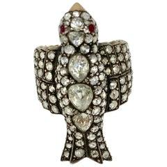 5.27 Carat Rose Cut Diamond Bird Ring