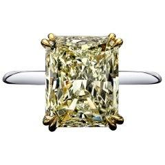 5.35 Carat Classy Radiant Cut Diamond Ring