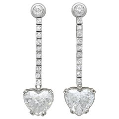 5.35 Carat Diamond and Platinum Earrings