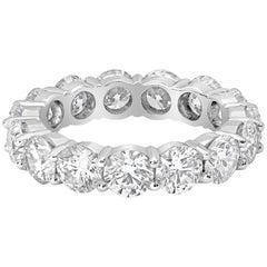 5.49 Carat Round Diamond Eternity Wedding Band