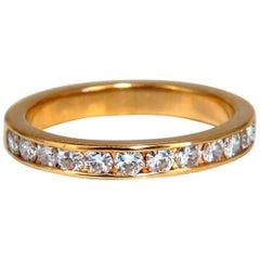 .54 Carat Natural Round Diamond Band Ring 14 Karat