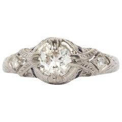 .55 Carat Diamond Platinum Engagement Ring