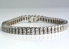 5.5 Carat Diamond Tennis Bracelet in 18 Karat White Gold