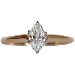 .55 Carat Diamond Yellow Gold and Platinum Engagement Ring