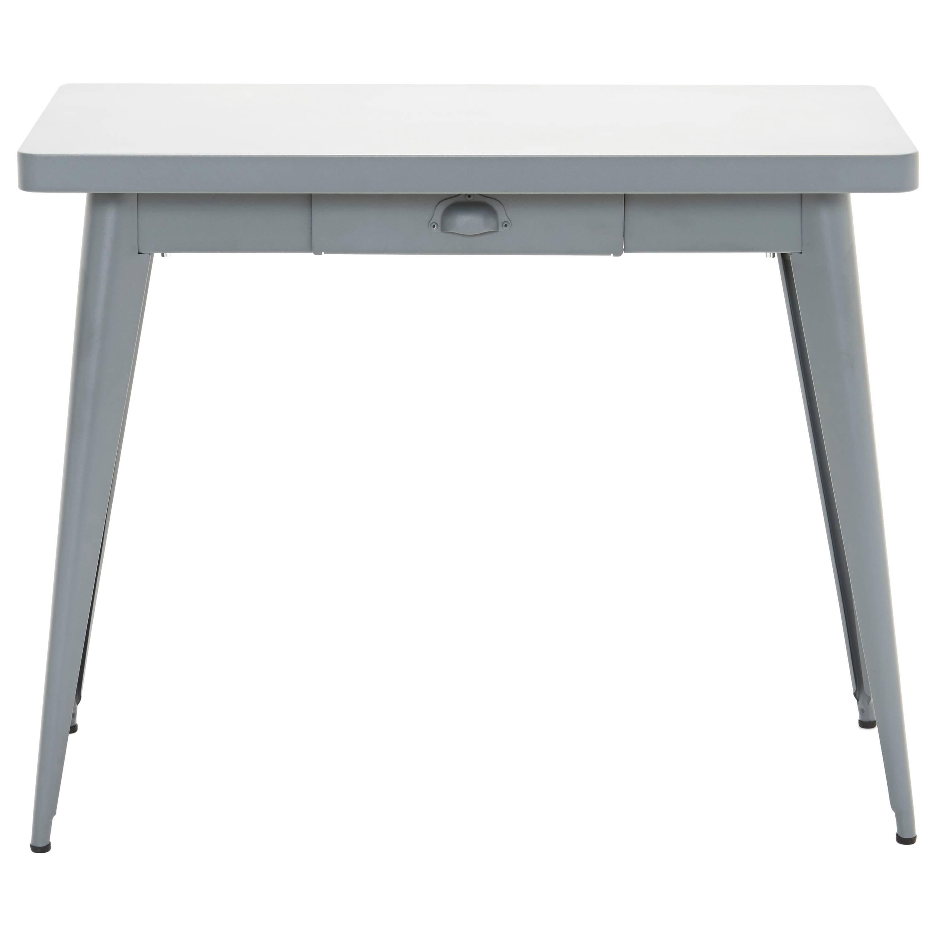55 Console Table with Drawer in Grey by Jean Pauchard & Tolix