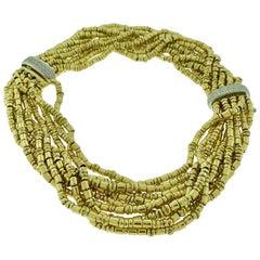 5.5 Ct Diamond Necklace / Bracelets 280 Gm 18K Gold Designer Orlando-Orlandini