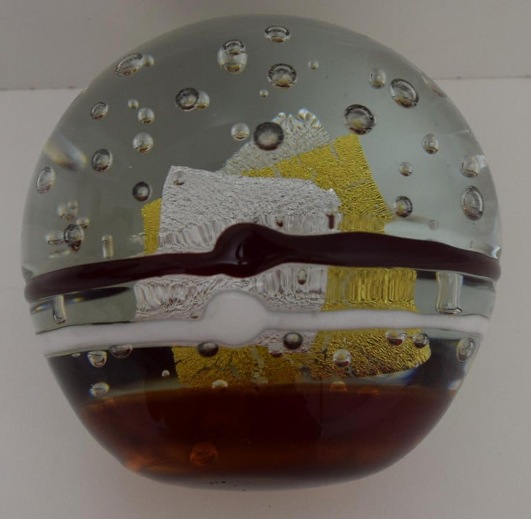 American Large Art Glass Sculpture by Robert L. Hamon For Sale