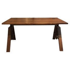 Walnut Wood Desk with Height Adjusting Function