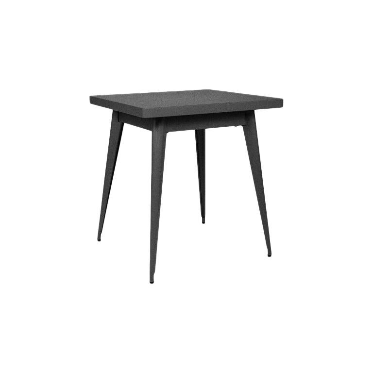 55 Table 70x70 Indoor -  in Graphite by Jean Pauchard & Tolix, US