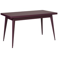 55 Table in Aubergine by Jean Pauchard & Tolix
