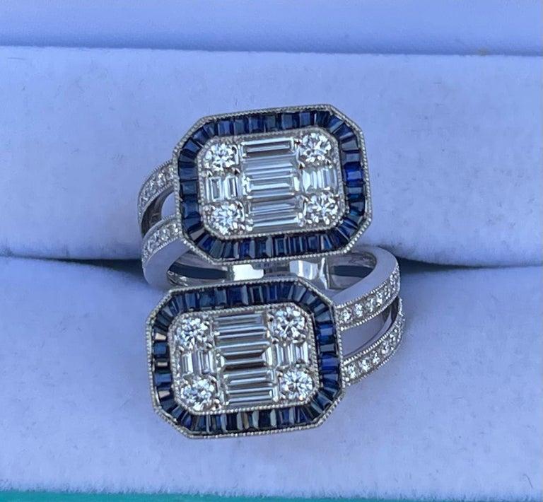 5.50 Carat Diamond and Sapphire Modern