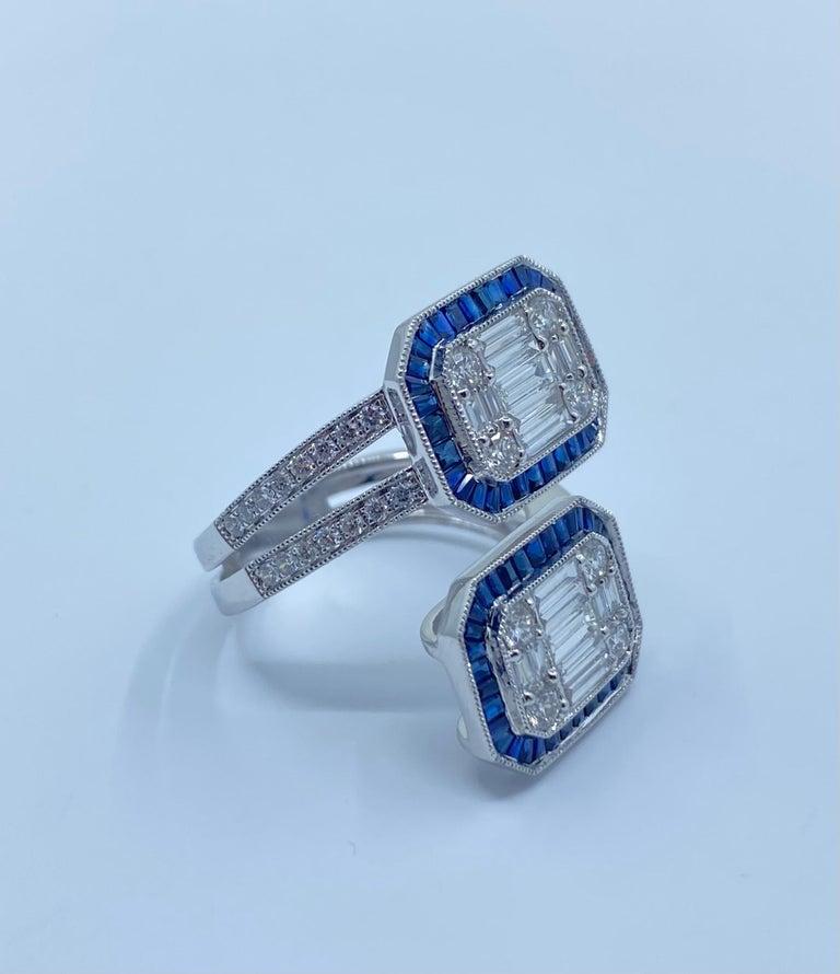 Women's 5.50 Carat Diamond and Sapphire Modern