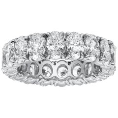 5.52 Carat Oval Cut Diamond Eternity Wedding Band