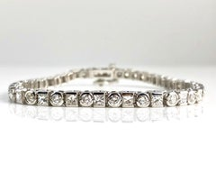 5.54 Carat Diamond Tennis Bracelet in 18 Karat White Gold by DiamondTown