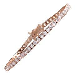 5.55 Carat Diamond 18 Karat Rose Gold Bracelet