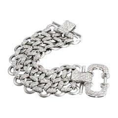 5.58 Carat Diamonds Bracelet 18 Karat Gold Made in Italy