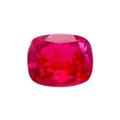 5.6 Carat Cushion-Cut Vivid Red Natural Tourmaline