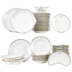 56 Piece Old Paris Le Rosey & Theodore Haviland Limoge Porcelain Dinner Service