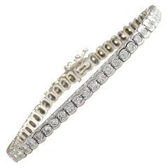 5.60 Carat Diamond 18 Karat White Gold Bracelet