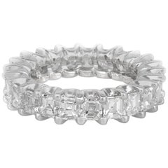 5.60 Carat Square Emerald Cut Diamond Eternity Band