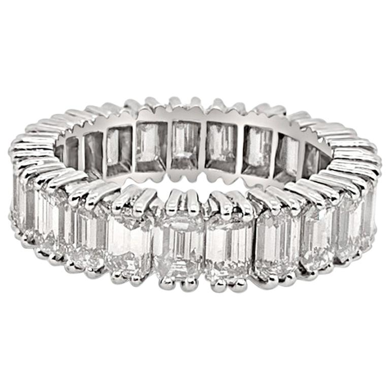 5.60 Carat 'Total Weight' Platinum Eternity Band Ring