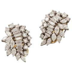 5.62 Carat Diamonds Clip Earrings
