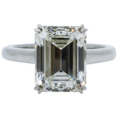 5.62 Carat GIA Diamond Platinum Solitaire Ring