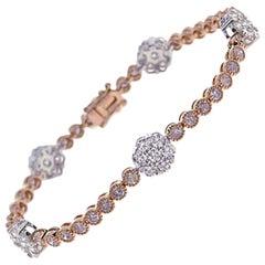 5.62 Carat Natural Pink Diamond Bracelet