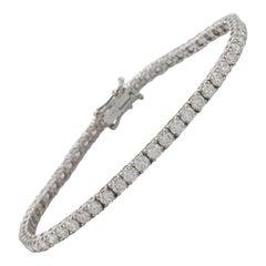 5.66 Carat Diamond Tennis Bracelet 18 Karat White Gold