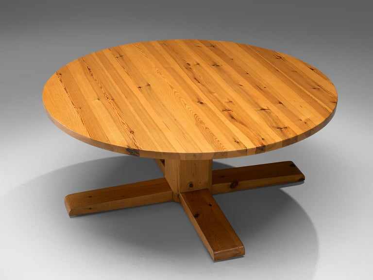 Mid-Century Modern Spanish Dining Table in Solid Pinewood For Sale