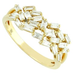 .57 Carat Baguette Diamond 18 Karat Gold Ring