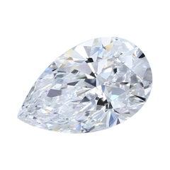 5.72 Carat Pear Shape Diamond GIA Certified