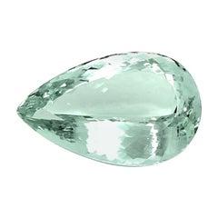 57.30 Carat Unheated Aquamarine Pear Shape, Pendant Collector Gemstone