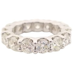 5.75 Carat Diamond Eternity Band Platinum