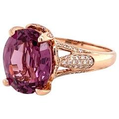 5.75 Mahenge Malaya Garnet Gold and Diamond Ring