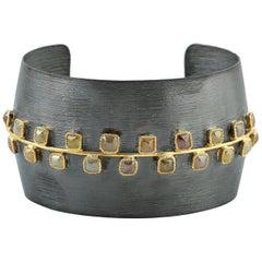 5.77 Carat Fancy Natural Diamond Cuff Bracelet