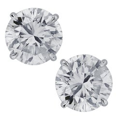 Vivid Diamonds 5.83 Carat Diamond Stud Earrings