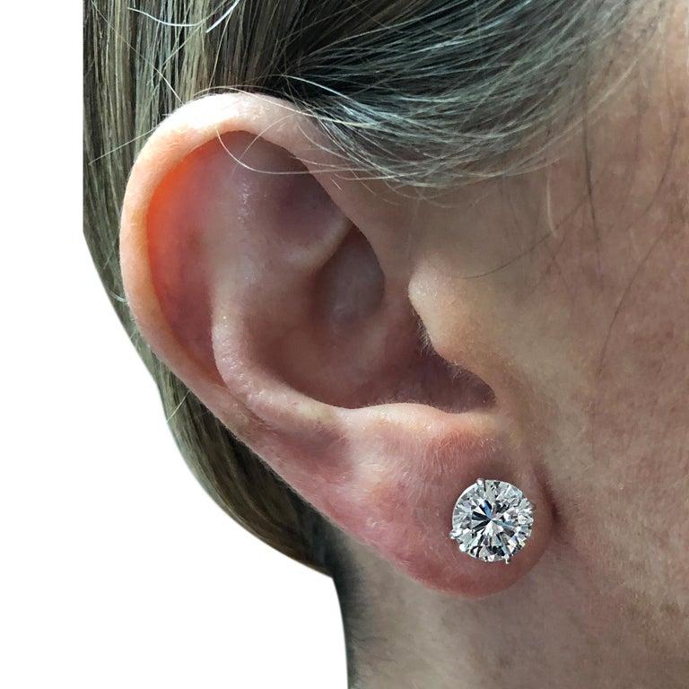 Vivid Diamonds 5.83 Carat Diamond Stud Earrings In New Condition For Sale In Miami, FL
